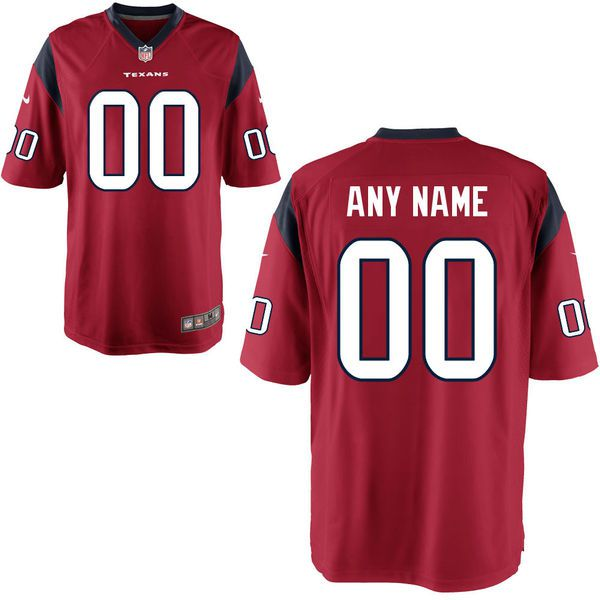 Youth Houston Texans Custom Alternate Red Game NFL Jersey