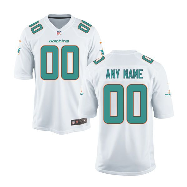 Youth Miami Dolphins Nike White Custom White Game NFL Jersey