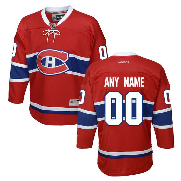 Youth Montreal Canadiens Reebok Red Home Premier Custom NHL Jersey