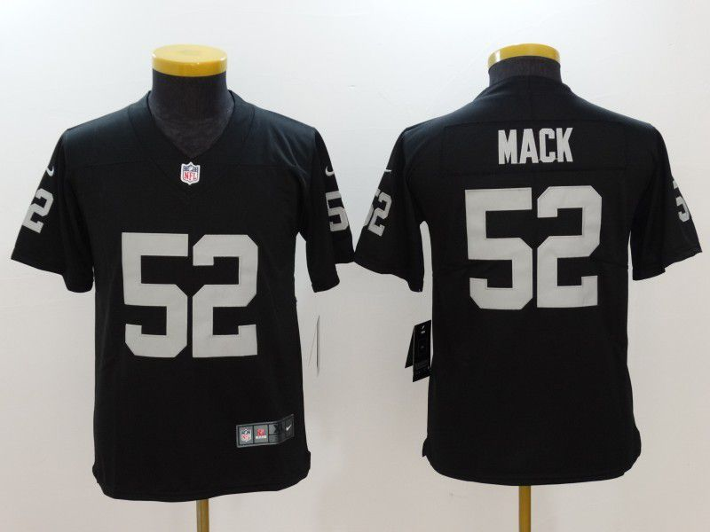 Youth Oakland Raiders 52 Mack Black Nike Vapor Untouchable Limited NFL Jersey