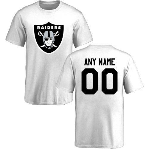 Youth Oakland Raiders Design-Your-Own Short Sleeve Custom NFL T-Shirt