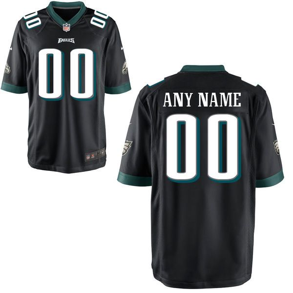 Youth Philadelphia Eagles Custom Alternate Black Game NFL Jersey