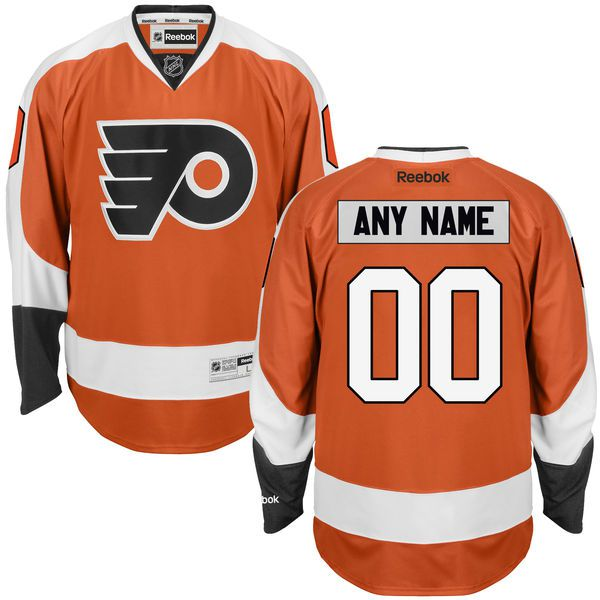 Youth Philadelphia Flyers Reebok Orange Custom Premier NHL Jersey