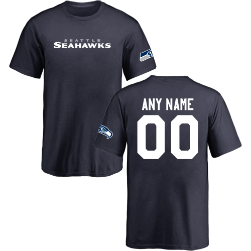 Youth Seattle Seahawks Design Your Own Short Sleeve Custom NFL T-Shirt