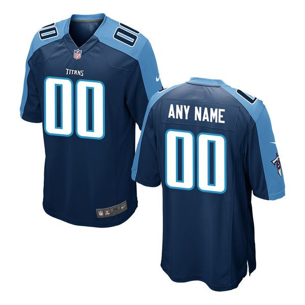 Youth Tennessee Titans Nike Navy Custom Game NFL Jersey