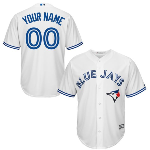 Youth Toronto Blue Jays Majestic White Custom Cool Base MLB Jersey