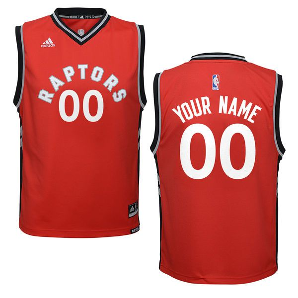 Youth Toronto Raptors Adidas Red Custom Replica Road NBA Jersey