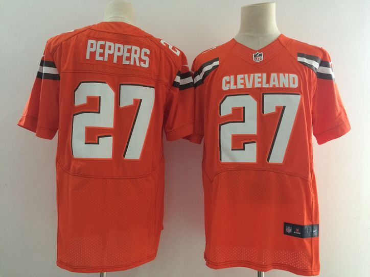 2017 NFL Men Cleveland Browns 27 Peppers orange Nike Elite Jerseys
