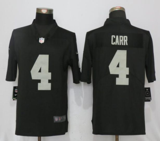 2017 NFL NEW Nike Oakland Raiders 4 Carr Black 2017 Vapor Untouchable Limited Player