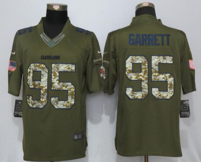 2017 NFL New Nike Cleveland Browns 95 Garrett Green Salute To Service Limited Jersey