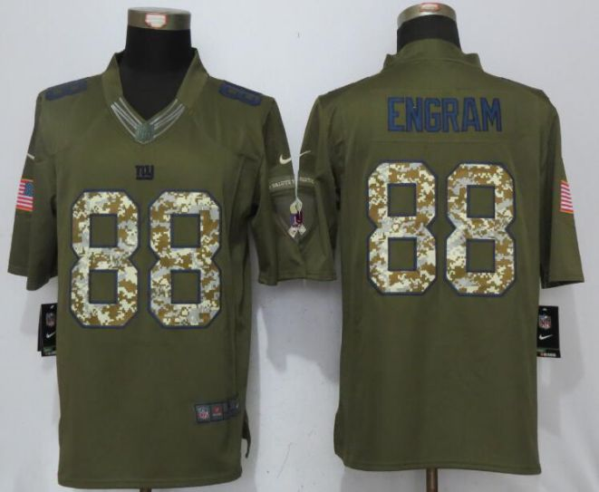 2017 NFL New Nike New York Giants 88 Engram Green Salute To Service Limited Jersey