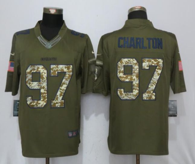 2017 NFL Nike Dallas cowboys 97 Charlton Green Salute To Service Limited Jersey
