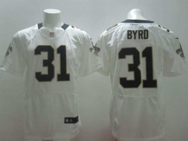 2017 NFL Nike New Orleans Saints 31 Byrd White elite Jerseys