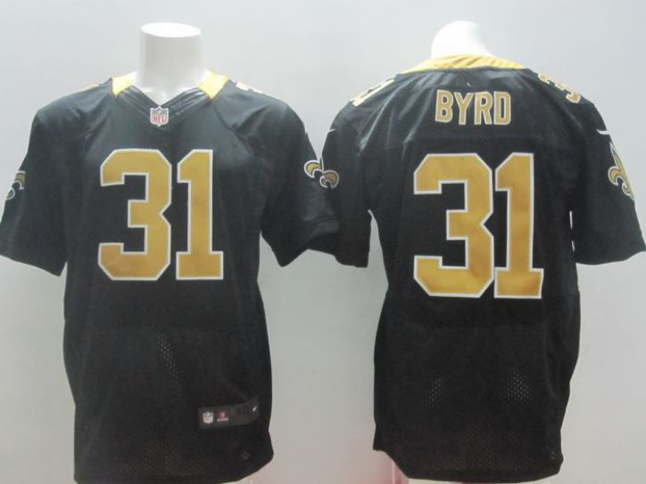 2017 NFL Nike New Orleans Saints 31 Byrd black elite Jerseys