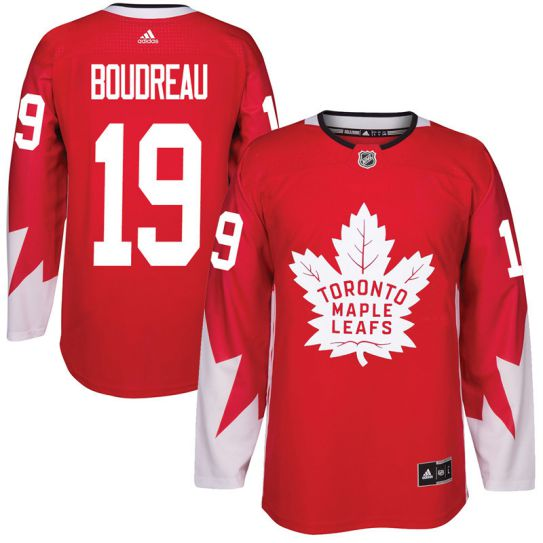 2017 NHL Toronto Maple Leafs Men 19 Bruce Boudreau red jersey