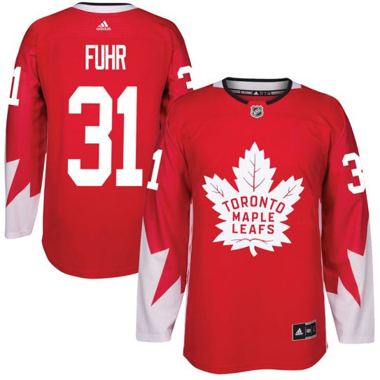 2017 NHL Toronto Maple Leafs Men 31 Grant Fuhr red jersey