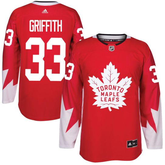 2017 NHL Toronto Maple Leafs Men 33 Seth Griffith red jersey