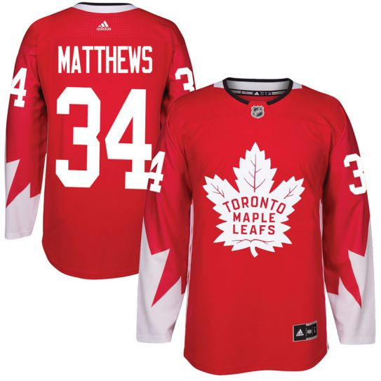 2017 NHL Toronto Maple Leafs Men 34 Auston Matthews red jersey