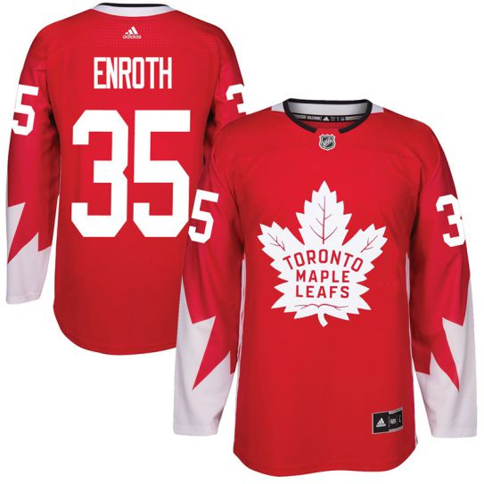 2017 NHL Toronto Maple Leafs Men 35 Jhonas Enroth red jersey