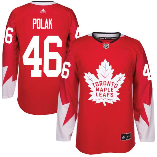 2017 NHL Toronto Maple Leafs Men 46 Roman Polak red jersey