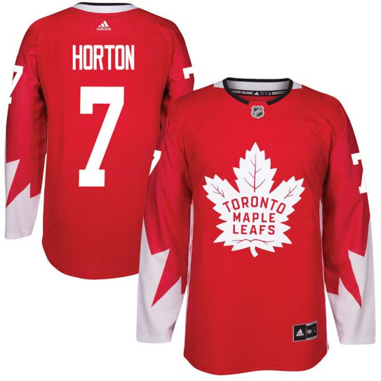 2017 NHL Toronto Maple Leafs Men 7 Tim Horton red jersey