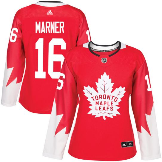2017 NHL Toronto Maple Leafs women 16 Mitch Marner red jersey