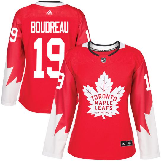 2017 NHL Toronto Maple Leafs women 19 Bruce Boudreau red jersey