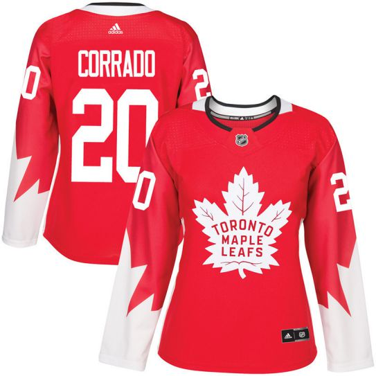 2017 NHL Toronto Maple Leafs women 20 Frank Corrado red jersey