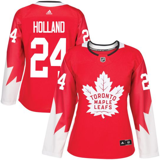 2017 NHL Toronto Maple Leafs women 24 Peter Holland red jersey