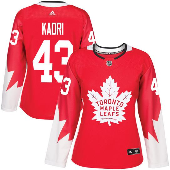 2017 NHL Toronto Maple Leafs women 43 Nazem Kadri red jersey