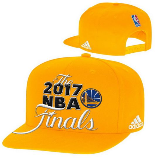 Adidas Golden State Warriors Yellow 2017 Western Conference Champions Snapback Nba Hat