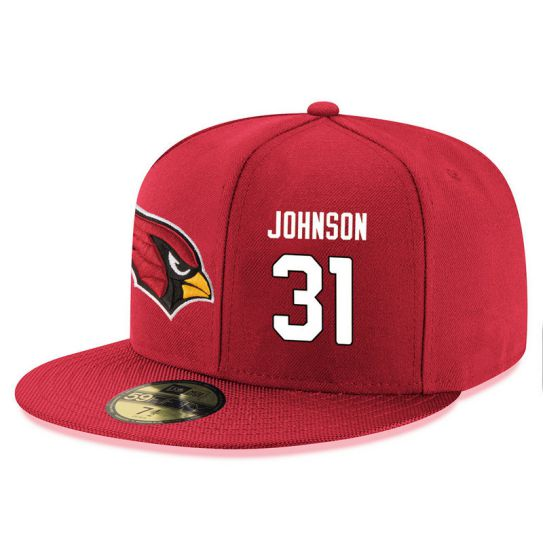 Arizona Cardinals 31 Johnson Red NFL Hat