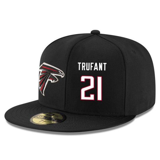 Atlanta Falcons 21 Trufant Black NFL Hat