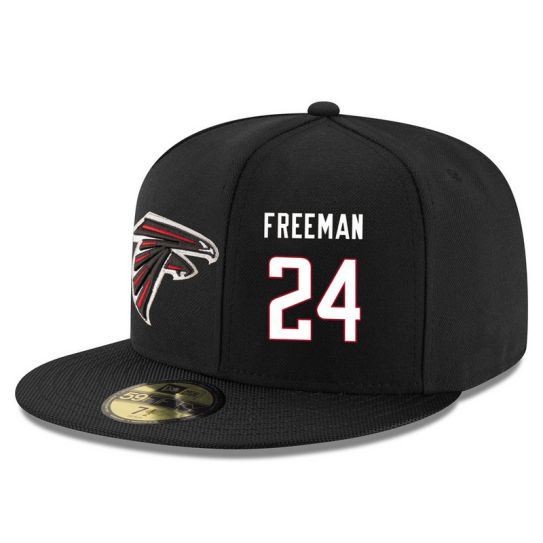Atlanta Falcons 24 Freeman Black NFL Hat