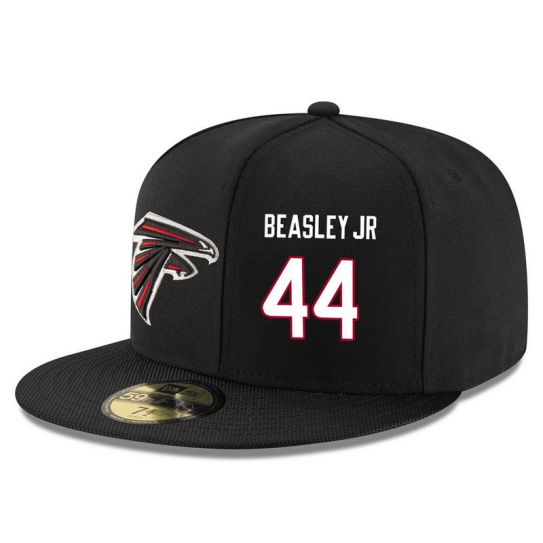 Atlanta Falcons 44 Beasley JR Black NFL Hat