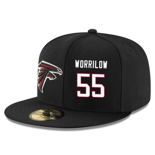 Atlanta Falcons 55 Worrilow Black NFL Hat