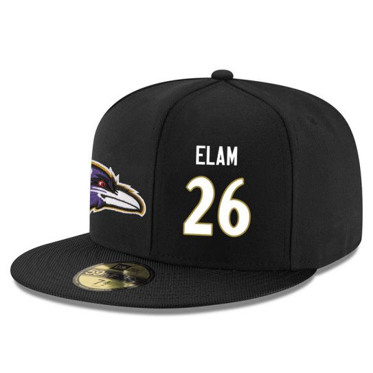 Baltimore Ravens 26 Elam Black NFL Hat