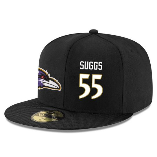 Baltimore Ravens 55 Suggs Black NFL Hat