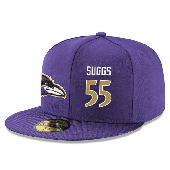Baltimore Ravens 55 Suggs Purple NFL Hat