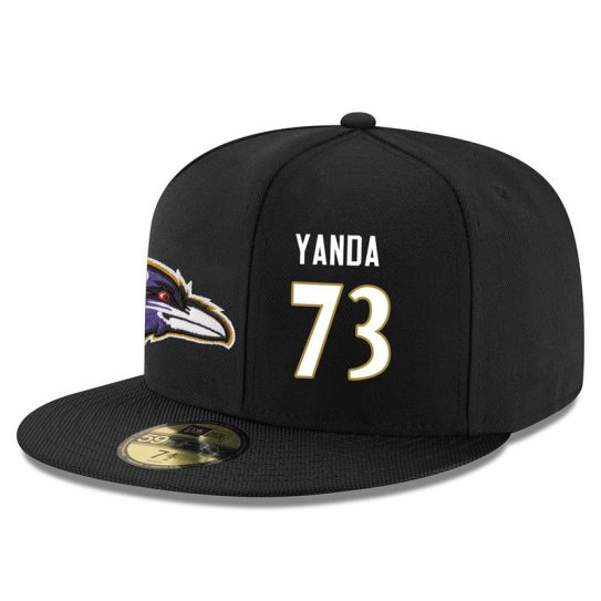 Baltimore Ravens 73 Yanda Black NFL Hat
