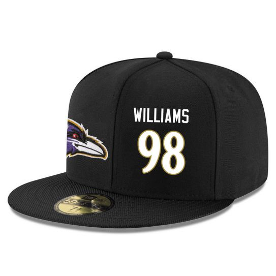 Baltimore Ravens 98 Williams Black NFL Hat