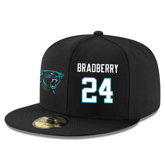 Carolina Panthers 24 Bradberry Black NFL Hat