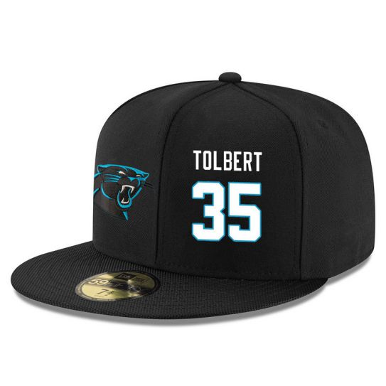 Carolina Panthers 35 Tolbert Black NFL Hat