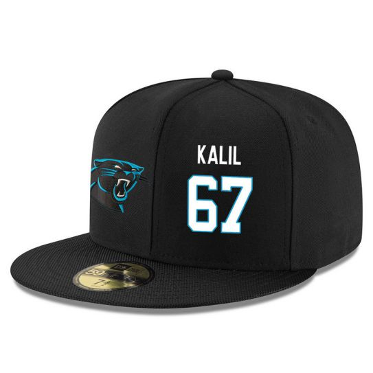 Carolina Panthers 67 Kalil Black NFL Hat