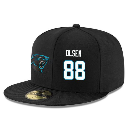 Carolina Panthers 88 Olsen Black NFL Hat