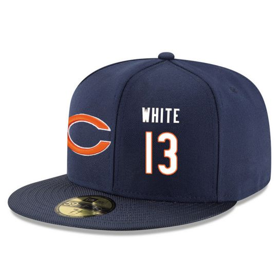 Chicago Bears 13 White Blue NFL Hat