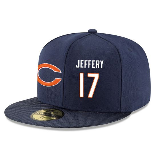 Chicago Bears 17 Jeffery Blue NFL Hat