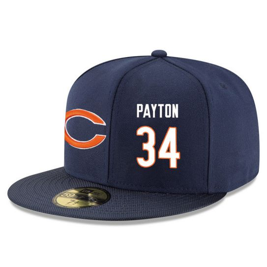 Chicago Bears 34 Payton Blue NFL Hat
