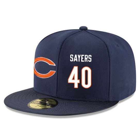 Chicago Bears 40 Sayers Blue NFL Hat