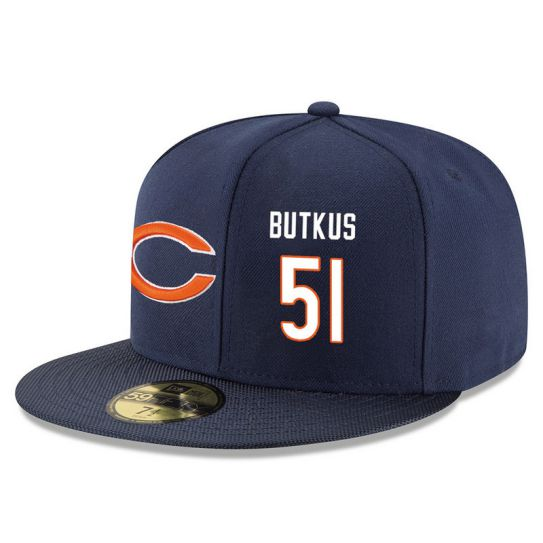 Chicago Bears 51 Butkus Blue NFL Hat